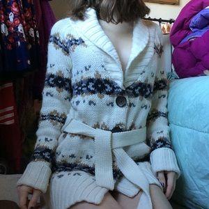 ANN TAYLOR Loft Cozy WARM Chunky Long Sweater